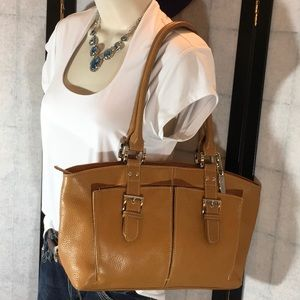 Tignanello tan leather shoulder bag